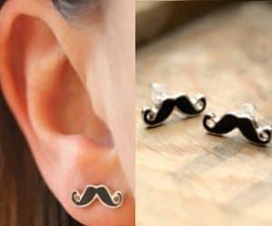 mustache earrings