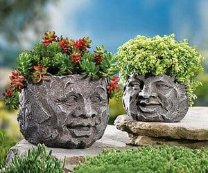 rock face planters