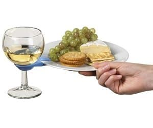 wine glass plate clips