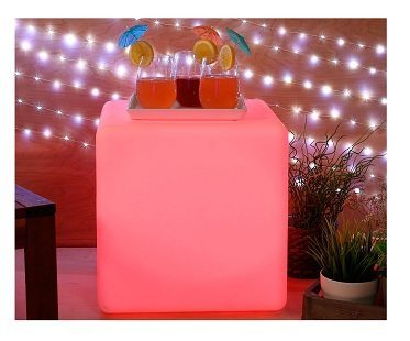 Color Changing LED Cube Pink