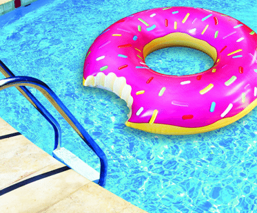 Inflatable donut for Colchonetas piscina
