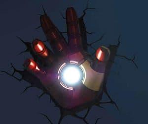 Iron man hand wall light