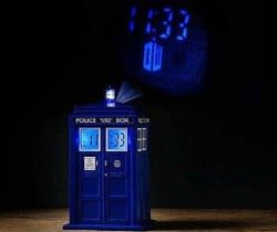dr who tardis projector clock