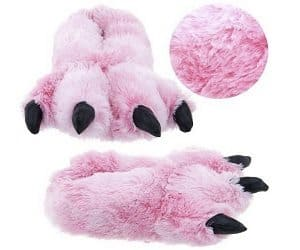 pink bear feet slippers