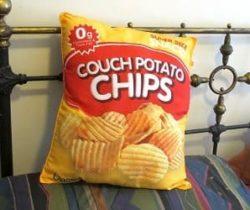 potato chips pillow