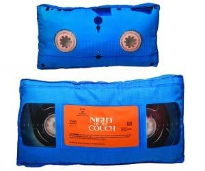 video tape pillow