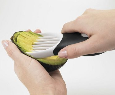 3-in-1 avocado slicer slicing