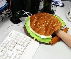Heated Hamburger Mouse Pad