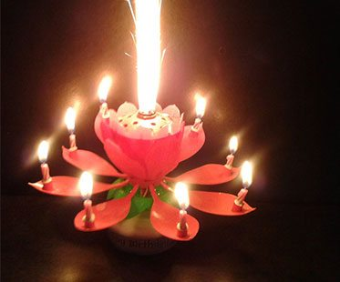 SPARKLING BIRTHDAY CAKE CANDLES