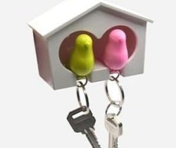 bird house with keyring holder