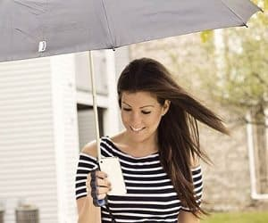 finger grip umbrella