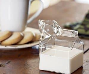 glass milk carton