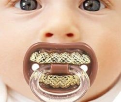 gold teeth pacifier
