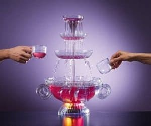 illuminated beverage fountain