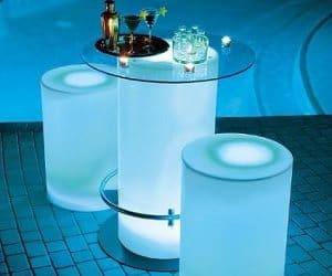 illuminated cocktail table