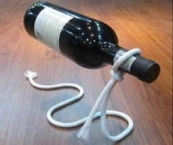 illusion wine bottle holder