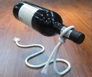 illusion wine bottle holder