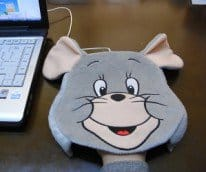 mouse shaped heated pad