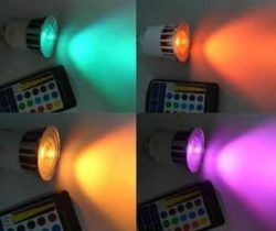 multi-color LED lightbulb