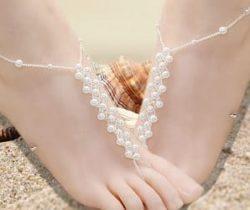 pearl pattern foot jewelry
