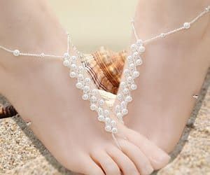pearl pattern foot jewelry