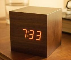 sound activated cube clock