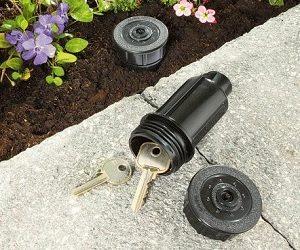 sprinkler head key holder