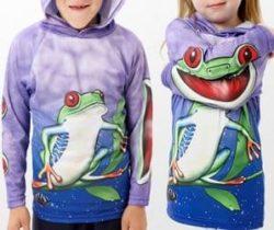 tree frog hoodie