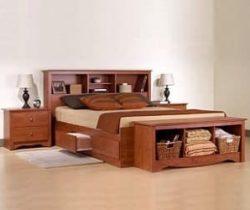 bookcase storage bed