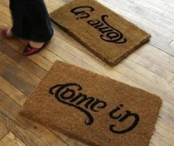 come in go way doormat