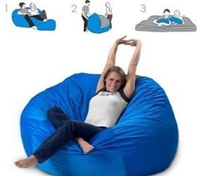 convertible bean bag bed
