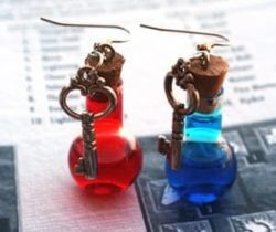 health and mana earrings