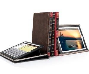 leather book iPad case
