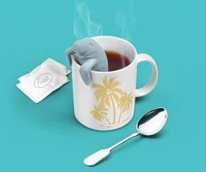 manatee shaped tea infuser