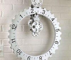 revolving wheel wall clock