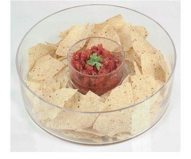 Glass Chip And Dip Bowls