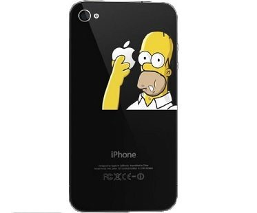 Homer Simpson Iphone Decal