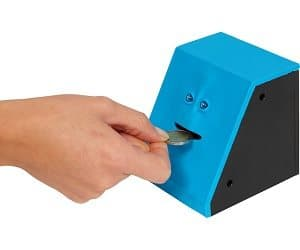Coin eating money box for Awesome money box