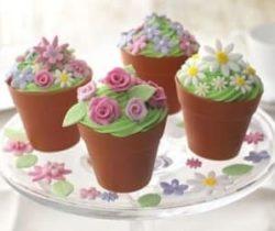 flower pot cupcake molds