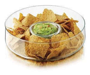 glass chip and dip bowl