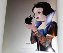 gothic snow white ipad decal