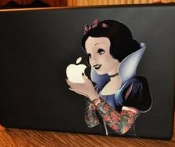 gothic snow white macbook decal