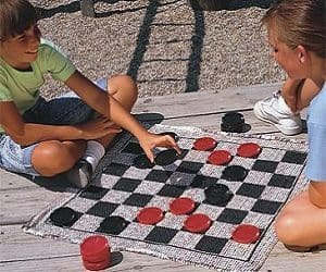 jumbo checkers rug game