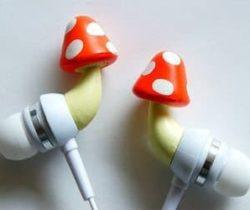 mushroom earphones