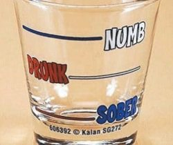 numb drunk sober shot glass