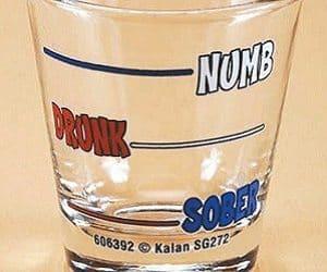 numb drunk sober shot glass
