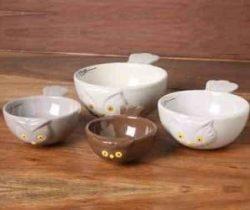 owl measuring bowls