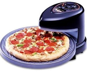 rotating tray pizza oven