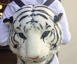 white tiger backpack