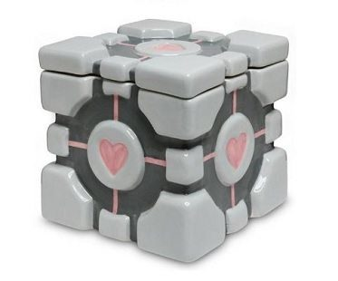Companion Cube Cookie Jar